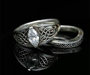 celtic, pagan, and wedding ring image