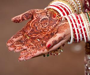 mehndi and indian wedding image