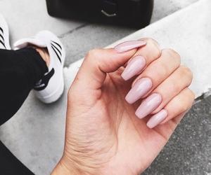 nails, adidas, and pink image
