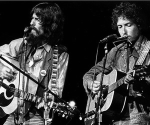 bob dylan and george harrison image