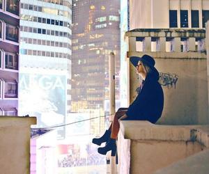 city, girl, and fashion image
