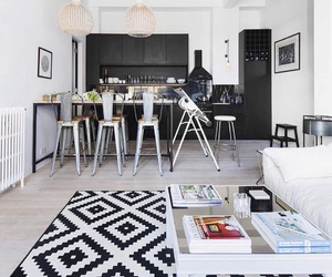 apartment, black, and comfortable image