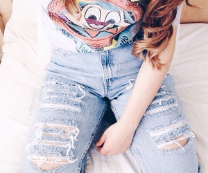 bed, curls, and disney image