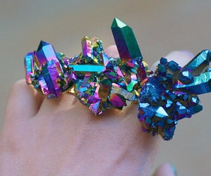 crystal, ring, and blue image