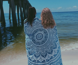 beach, best friends, and pensacola beach image