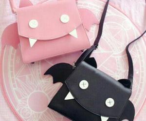 bag, pink, and black image