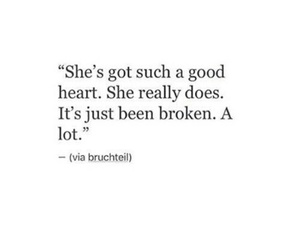 quotes, broken, and heart image