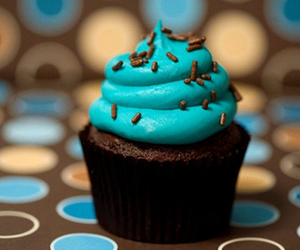 cupcake, blue, and chocolate image