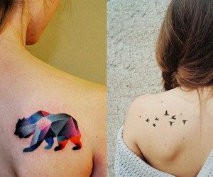tattoo, animals, and colors image