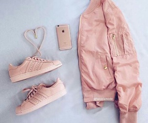 pink, fashion, and adidas image