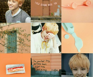 moodboard, orange, and Seventeen image