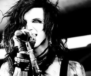 black and white, black veil brides, and andy biersack image