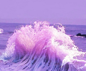 waves, pretty, and purple image