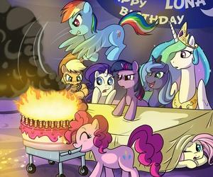 happy birthday, MLP, and princess luna image