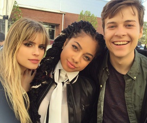 scream, carlson young, and noah foster image