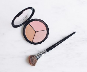 blush, brush, and fashion image