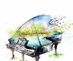 music, art, and piano image