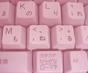 pink, keyboard, and japanese image