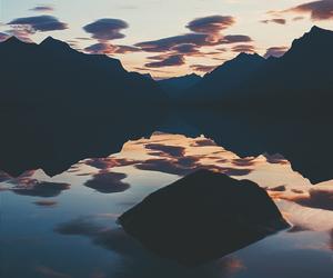 mountains, wallpaper, and lake image