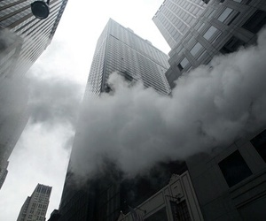 city, clouds, and grunge image