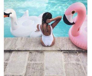 bikini, pink, and summer image