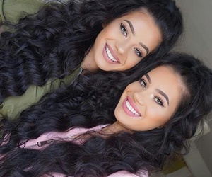 twins, makeup, and beauty image