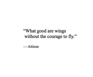 quotes, courage, and wings image