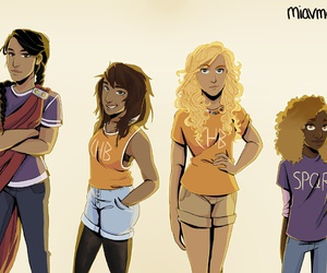 Reyna, percy jackson, and annabeth chase image