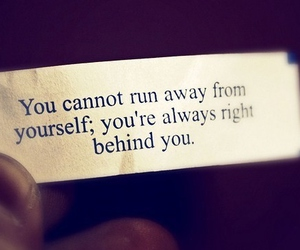 quote and run away image