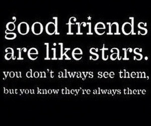 stars, friends, and quote image