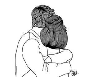 couple, love, and drawing image