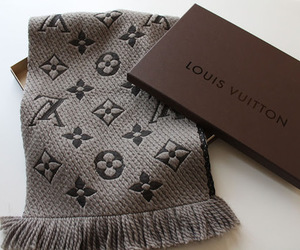 Louis Vuitton, fashion, and scarf image