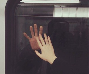 hands, couple, and tumblr image