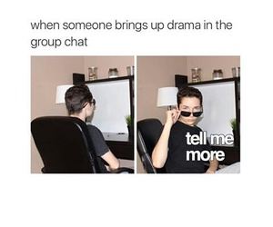 funny, group chat, and lol image