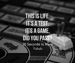 life, test, and game image