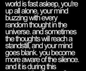 insomnia, quote, and alone image