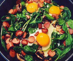 food, healthy, and spinach image