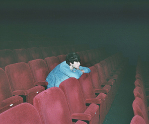 boy, cinema, and alone image