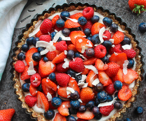 berries, food, and pie image