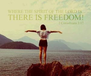 jesus, freedom, and god image