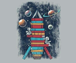 book, art, and space image