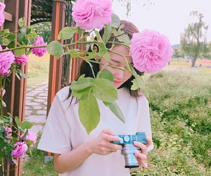 flowers, kpop, and girl image