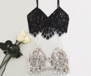 fashion, black, and lace image