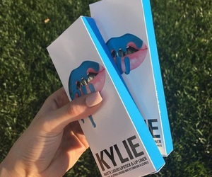 blue, makeup, and kylie jenner image