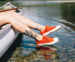 lake, nature, and shoes image