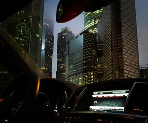 car, city, and light image