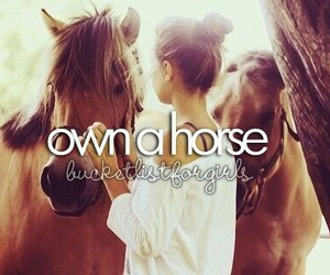 girl, cute, and horse image