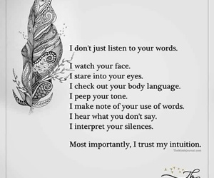 feelings, intuition, and quotes image