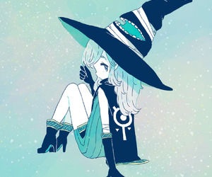 blue, girl, and cute image