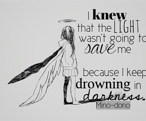 drowning and quote image